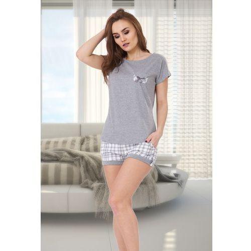 Piżama damska irma 527 szary melanż/szary marki M-max