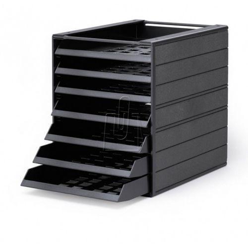 """Durable Pojemnik z szufladami idealbox basic 7 """"blue angel"""" 1712002058 antracyto (4005546108278)"""