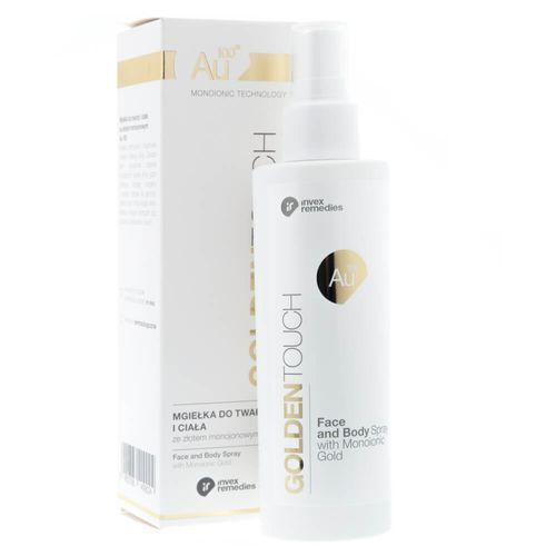 Invex remedies au100 mgiełka do twarzy i ciała ze złotem 200 ml