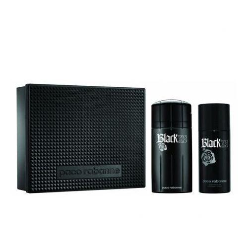Paco Rabanne Black XS, Zestaw podarunkowy, woda toaletowa 100ml + dezodorant 150ml (Metal Box)