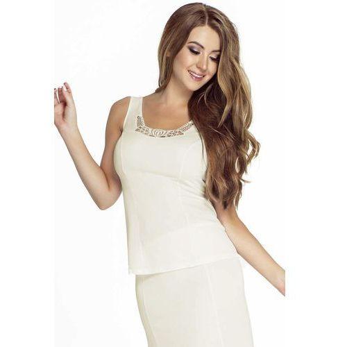 5c5509a740cf03 Mewa 4139 43,36 zł delikatna i szczególnie kobieca koszulka w tradycyjnych  kolorach. - prosty krój - kolisty dekolt - dekoratywna gipiura -.