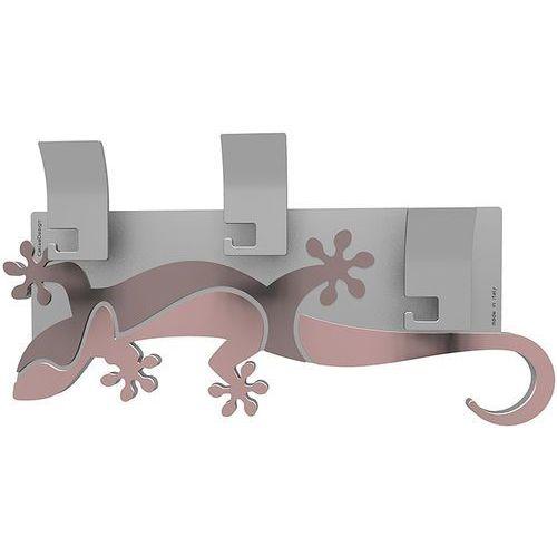 Calleadesign Wieszak ścienny dekoracyjny gecko antyczny-różowy (54-13-2-32)