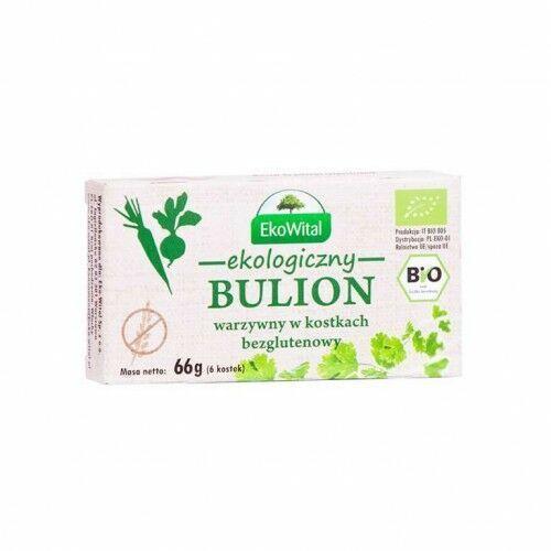 Bulion warzywny w kostkach bez drożdży, bez oleju palmowego bezglutenowy BIO 60 g EkoWital