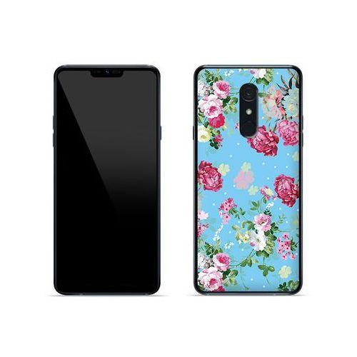 LG G7 Fit - etui na telefon Fantastic Case - różyczki na miętowym tle, kolor różowy