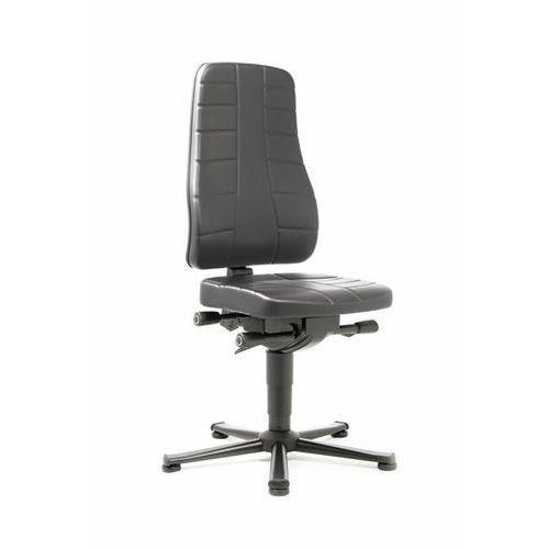 Obrotowe krzesło do pracy z funkcjami ergonomicznymi, na ślizgaczach podłogowych