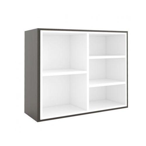 Biblioteka MODUL 800 x 1000 mm + wewnętrzny moduł, wenge/biały