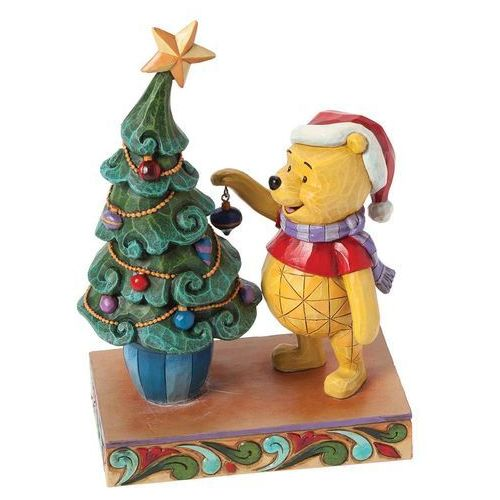 Kubuś puchatek i choinka trim the tree with me (winnie the pooh with tree) 4039045 figurka ozdoba świąteczna święta marki Jim shore