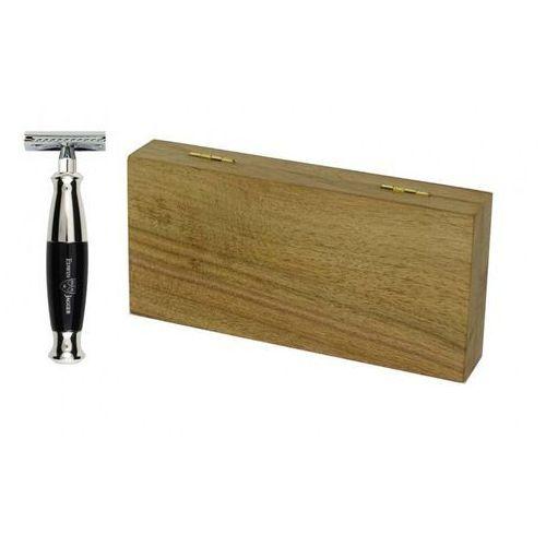 Zestaw prezentowy Orzech - maszynka EJ, czarna rączka, w drewnianym pudełku