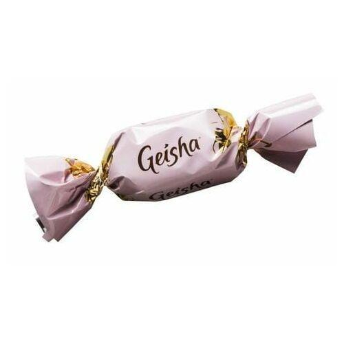 Fazer - geisha - 1szt - mleczny cukierek z nadzieniem z orzechów laskowych - 7,2g - z finlandii (6411404021043)