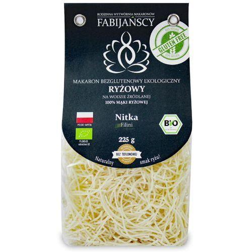 Makaron (z ryżu białego) nitka filini bezglutenowy bio 225 g - fabijańscy marki Fabijańscy (makarony)