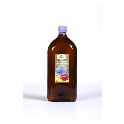 Olej lniany do diety dr Budwig tłoczony na zimno, nieoczyszczony 1000 ml - Olvita (5907591923013)