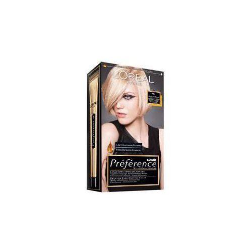 L'OREAL Feria Preference - farba do włosów 92 Bardzo Jasny Blond, marki L'Oreal Paris do zakupu w MultiPerfumeria.pl