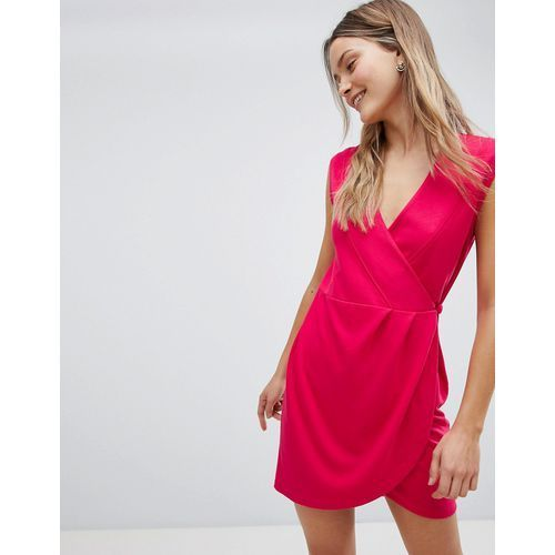 sub manhattan wrap dress - red, French connection