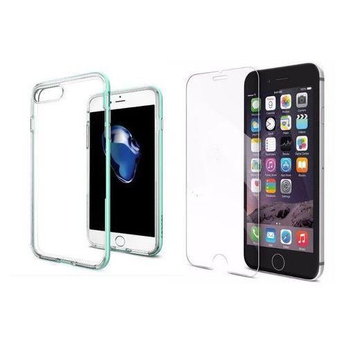Zestaw   spigen sgp neo hybrid crystal mint   obudowa + szkło ochronne perfect glass dla modelu apple iphone 7 plus marki Sgp - spigen / perfect glass