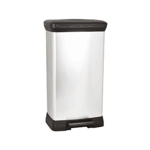 Kosz na śmieci 50L z pedałem czarno-srebrny metalizowany 187152 Curver - produkt z kategorii- kosze na śmieci