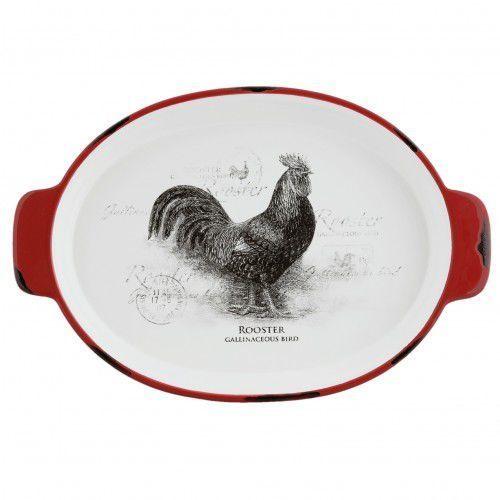 Półmisek ceramiczny z motywem koguta owalny (8717459614864)