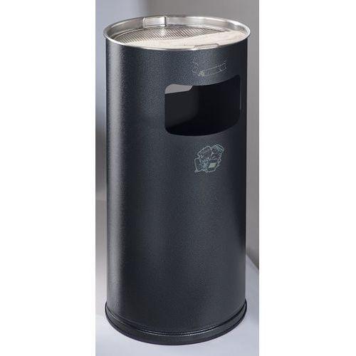 Popielniczka combi, okrągła, blacha stalowa, wys. 700 mm, Ø 320 mm, granitowy. O