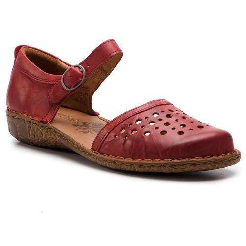 4317584487caf4 Sandały JOSEF SEIBEL - Rosalie 19 79519 95 450 Hibiscus, kolor czerwony  299,00 zł komfortowe sandały firmy Josef Seibel. Cholewka w tym kroju to  skóra ...