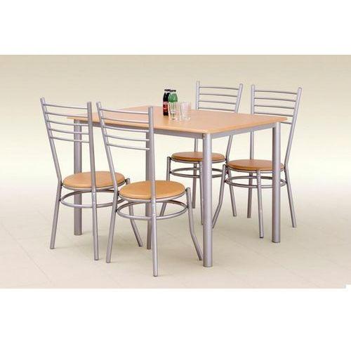 stół z krzesłami ELBERT + 4 krzesła (buk) z kategorii zestawy mebli kuchennych