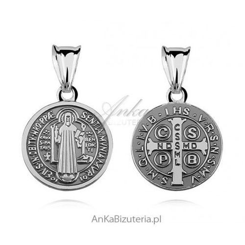 Ankabizuteria.pl medalik św. benedykt - srebrny medalik marki Anka biżuteria