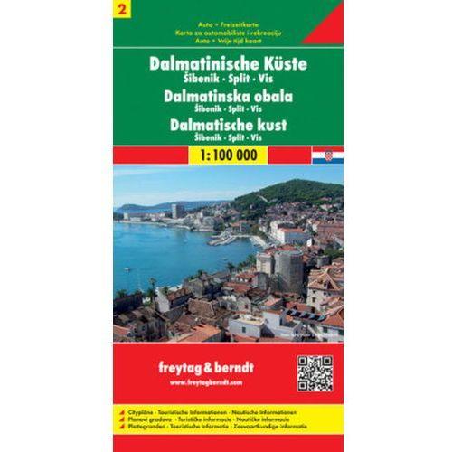 Wybrzeże Dalmatyńskie część 2 Sibenik Split Vis mapa 1:100 000 Freytag & Berndt