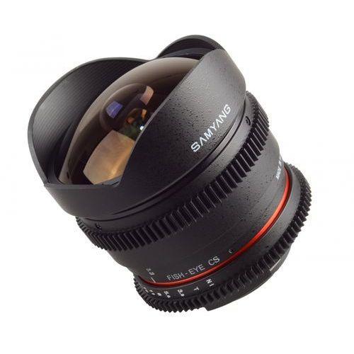 Obiektyw Samyang 8mm T3.8 H.D VDSLR II Canon (F1322401101) Darmowy odbiór w 21 miastach! (8809298881672)