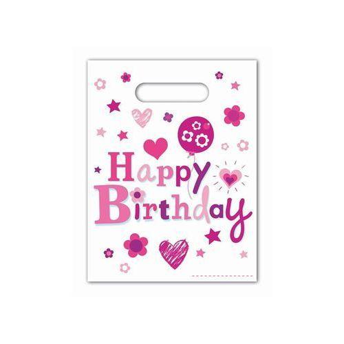 Procos Prezentowe torebki happy birthday dla dziewczynki - 6 szt.