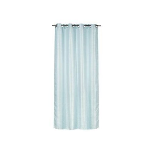 Zasłona gotowa DIAMENTICA kolor Niebieski 140 x 260 cm Kółka 190 g/m² INSPIRE