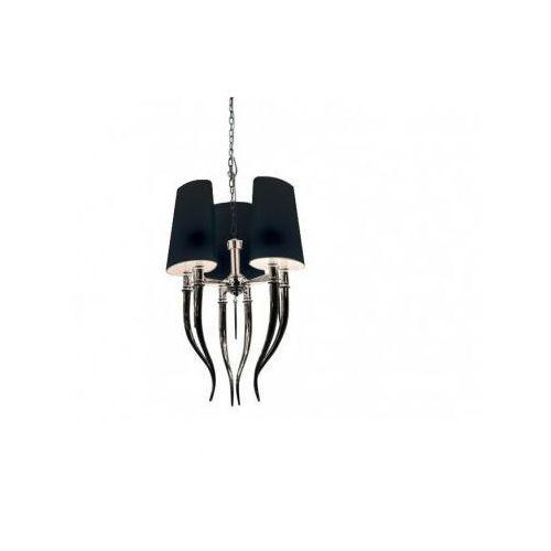 diablo 3 ad 8074-3 bk lampa wisząca zwis 6x11w e14 czarna + żarówka led za 1 zł gratis! marki Azzardo