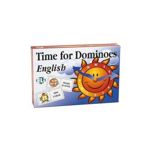 Gra językowa Angielski Time for Dominoes. Opr. karton, oprawa kartonowa