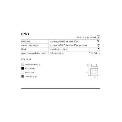 Azzardo Oprawa do wbudowania ezio 1 gm2105 wh - - autoryzowany dystrybutor azzardo (5901238408130)