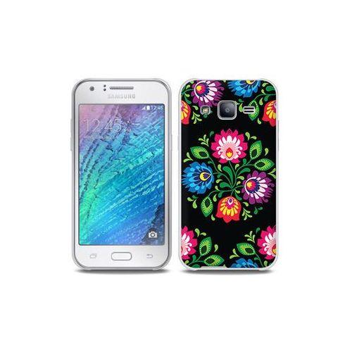 Samsung Galaxy J5 - etui na telefon Full Body Slim Fantastic - czarna łowicka wycinanka, kolor czarny