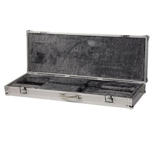Rockcase RC 10805 SA futerał do gitary basowej, 116 cm x 35 cm x 7,5 cm, srebrny aluminiowy