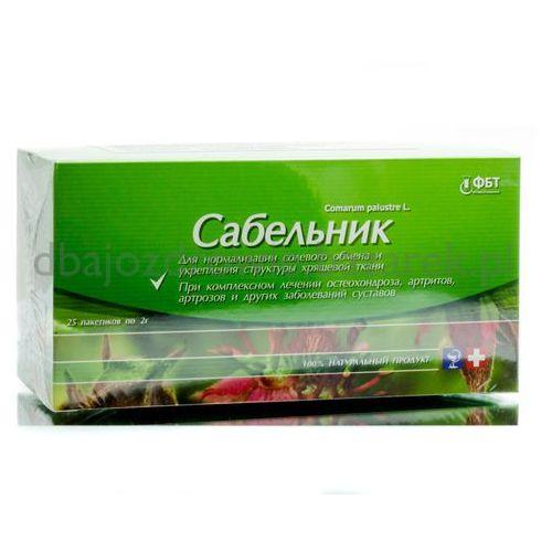 Sabelnik, Siedmiopalecznik Błotny z Zieloną Herbatą, 25 Saszetek x 2 g