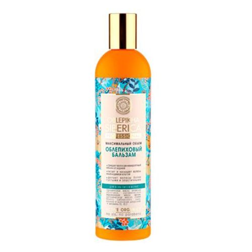 Natura Siberica Professional - balsam rokitnikowy do wszystkich typów włosów - zwiększenie objętości - krwawnik azjatycki, kalina, wyciąg z igieł modrzewia syberyjskiego, olej arganowy, olej z rokitnika ałtajskiego ze sklepu Kosmetyki Naturalne Maya