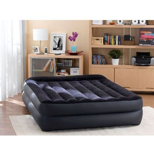 Intex Queen Pillow Rest Raised w/Fiber-TECH BIP airbed, Top: Black/bottom dla dorosłych: Blue, 152 x 203 x 42 cm (6941057405148)