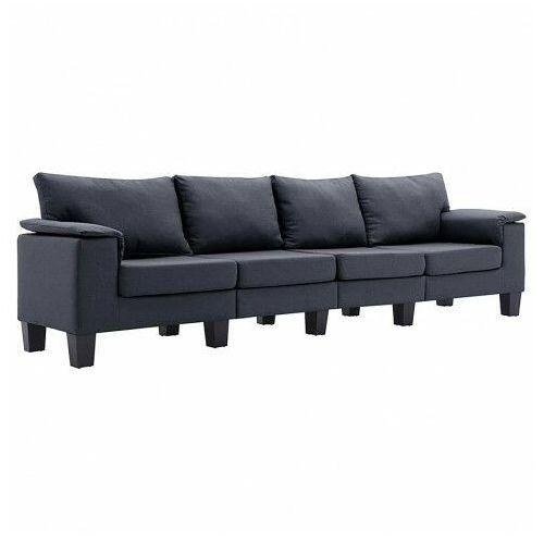 Czteroosobowa ekskluzywna ciemnoszara sofa - Ekilore 4Q, kolor szary