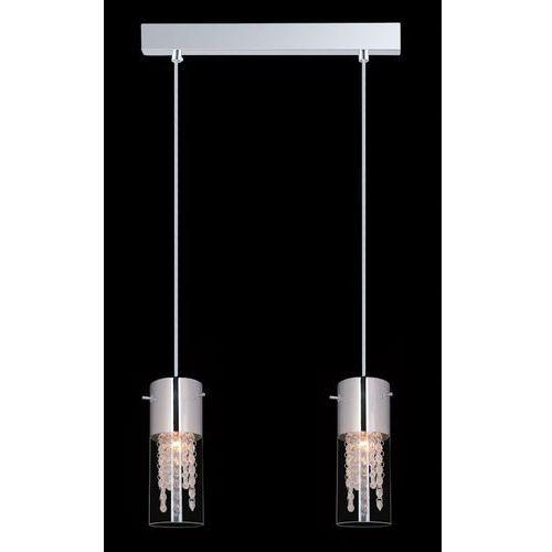 LAMPA wisząca MARQU MDM1636/2A Italux kryształowa OPRAWA zwis TUBY crystal chrom przezroczyste (5900644345008)