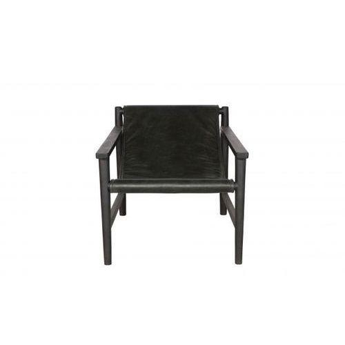 fotel sling skórzany czarny 800477-z marki Be pure