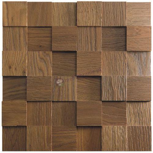 Panele drewniane Dąb RUSTIKAL Kostka Gładka 3D *001 - , Natural Wood Panels z Meblobranie.pl