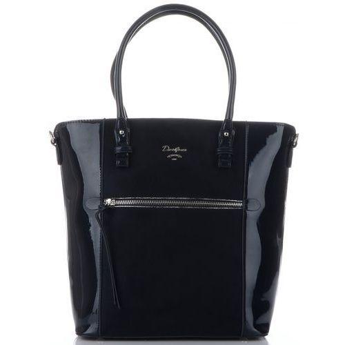 eleganckie firmowe torebki damskie ekskluzywny lakierowany kuferek granatowy (kolory) marki David jones