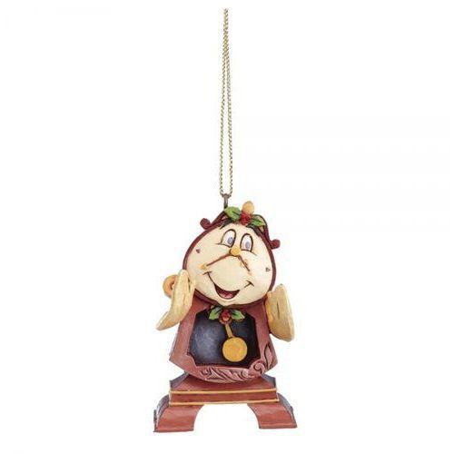 Jim shore Zegar zawieszka cogsworth hanging ornament a21429 piękna i bestia 7cm figurka ozdoba świąteczna