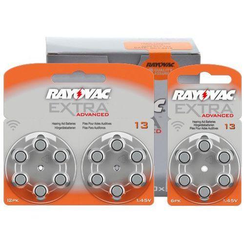 600 x baterie do aparatów słuchowych extra advanced 13 mf marki Rayovac