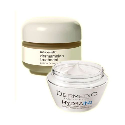 Mesoestetic - Dermamelan (Cosmelan) Treatment Cream + Dermedic Hydrain 2 Cream - Dermamelan krem na przebarwienia + Krem intensywnie nawilżający GRATI - sprawdź w sklepEstetyka.pl