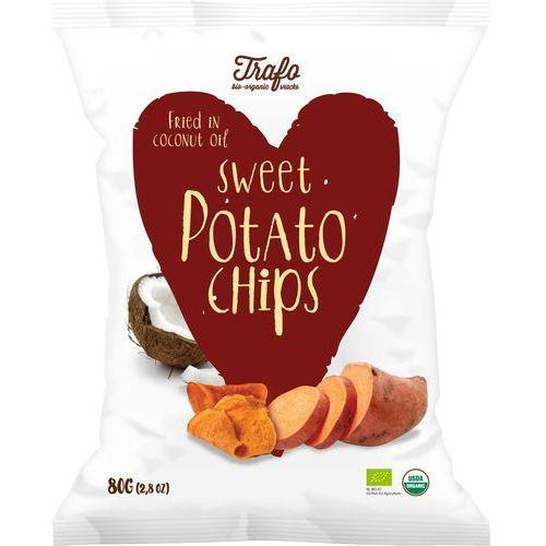 Chipsy z batatów pieczone na oleju kokosowym bio 80 g - trafo marki Trafo (chipsy)