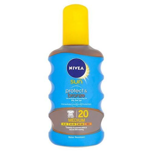 sun protect & bronze oil spray spf20 200ml w opalanie marki Nivea