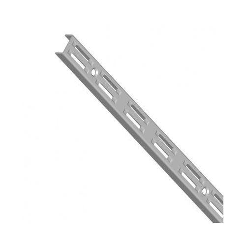 Element system Pionowy profil z dwurzędową perforacją, 500 mm, szary