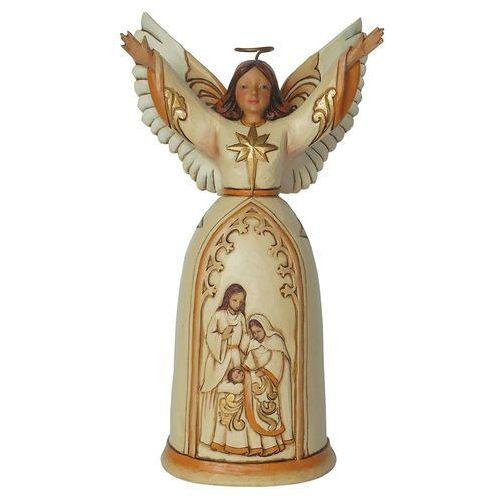 Anioł św. rodzina (the greatest gift ivory & gold angel), 4044105 figurka ozdoba świąteczna marki Jim shore