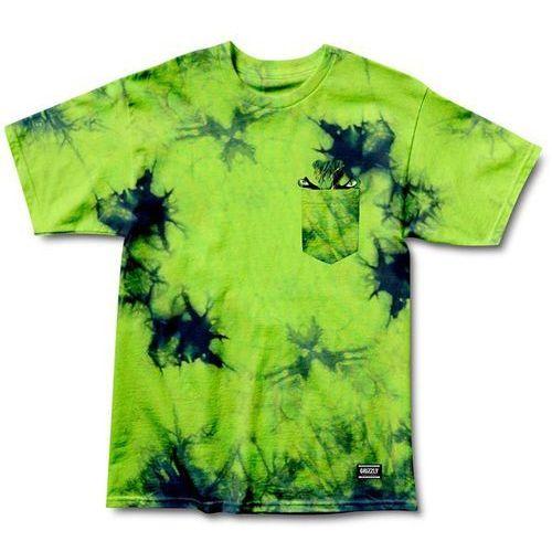 Grizzly Koszulka - grizzly x hulk pocket electric tie-dye (electric t-d) rozmiar: l