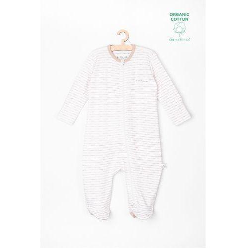 Pajac niemowlęcy biały w paski 6w3729 marki 5.10.15.